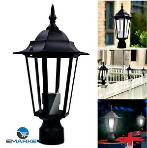 Light Garden Patio Driveway Yard Post Pole Lamp Retro Lantern Fixture Home Decor