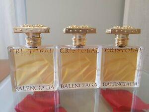 3 X BALENCIAGA CRISTOBAL EAU DE TOILETTE 50 ml SPRAY.