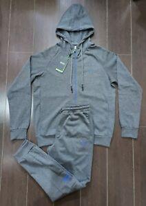 Hugo Boss Men's Tracksuit Hooded Jacket & Pants Mens Grey/blue Size Small £109