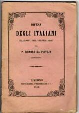 Libro Difesa degli Italiani Calunniati dal Valdese Ribet P. Romolo da Pistoia