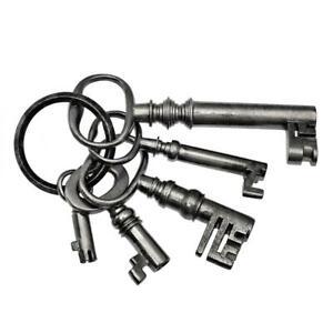 "ANTIQUE KEYS - Ring of Interesting Old Keys - Largest 2¾"" - Job Lot - ref.k858"