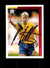 Pär Zetterberg Schweden UPPER DECK Sammelcard WM 1994 Original Sign+ A 157606