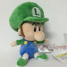 "New Super Mario Bros. Plush Soft Toy BB Baby Luigi Stuffed Animal Teddy Doll 6"""