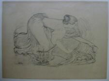"""gravure Lithographie Aristide MAILLOL.Panneau décoratif,Laveuse.""""L'Epreuve""""1895"""