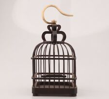 Vintage Wood Birdcage Old Canary Pet CAGE Supplies Collectible