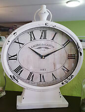 """große Tischuhr / Uhr """" Galerie du Gaston """" / Kaminuhr / Vintage Shabby Landhaus"""