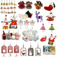 Christmas Tree Hanging Decoration Xmas Felt Wooden Decoration Gifts Baubles NEW