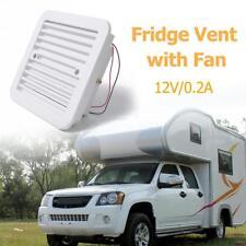 12V Fridge Vent with Fan for RV Trailer Caravan Side Air Ventilation White