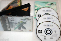 10 New High Quality Sony Playstation PS1 Final Fantasy VII Cases SF19/KC02PK