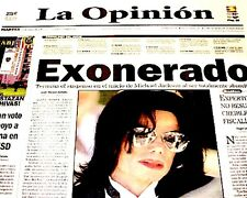 Michael Jackson Newspaper LA La Opinion Exonerado 2005 MJ Thriller King Of Pop