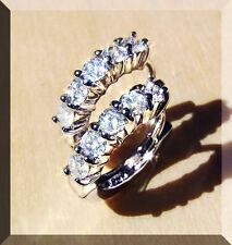 Orecchini Ad Anello Diamanti Oro Bianco 750 0,25 ct. Alto Wesselton VS Gioielli