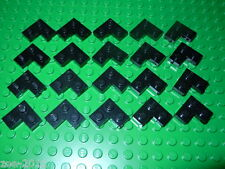 Lego Black Corner Plate 2x2 20 pieces NEW!!!