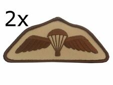 2 x Parachute Regiment Airborne Desert Subdued Wings Para Badge Army Military