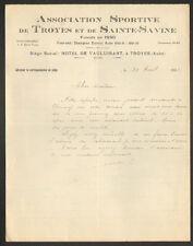 "TROYES (10) STADE FOOTBALL ""ASSOCIATION SPORTIVE de SAINTE-SAVINE & TROYES"" 1933"