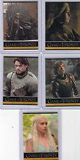 Games of Thrones P1,P2,P3,P4 and P5 Promo cards