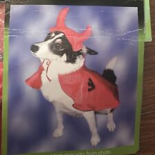 HALLOWEEN PET COSTUME - 'RED DEVIL' - TRICK OR TERROR ! - ONE SIZE - BNWT