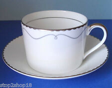Waterford Marc Jacobs COLETTE Tea Cup & Saucer Platinum Trim Made in UK New