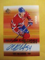 2015 16 SP Authentic Game Used Rookies Mike McCarron Sign Of The Times Autograph