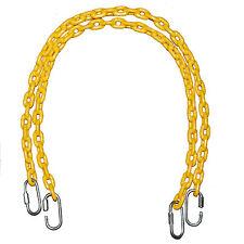 "Swing Set Play Jungle Gym Backyard  85""  Fully Coated Chain W/4 Hooks 2 Yellow"