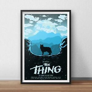 The Thing Poster, The Thing Movie Poster, Wall Art Decor, 11 x 17'', 16 x 24''