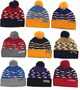 NBA Assorted Teams Mitchell & Ness Women's Knit Hat Cap Beanie w/ Pom M&N KL18W