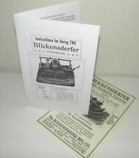 Blickensderfer 8 Typewriter Instruction Manual with Bonus Advertisement