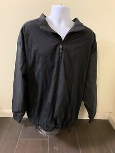 Nike Golf Clima Fit Black Quarter Zip Pullover Polyester/Nylon Men Size XL