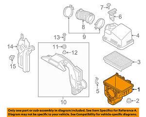 MAZDA OEM 14-15 6 Air Cleaner Box-Bottom Lower Housing Body PY1A133AY