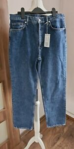 COS ORGANIC COTTON TAPERED LEG JEANS BLUE SIZE EUR32 BNWT