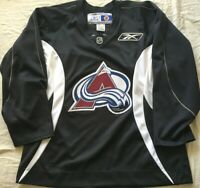 Colorado Avalanche authentic Reebok blank black & white NHL practice jersey NEW