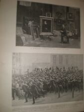 Benjamin Constant & electoral reform riots Brussels Belgium 1899 prints ref G