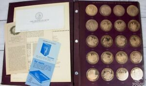 Scarce Franklin Mint 1776-1875 History of United States -100 Proof Bronze Medals