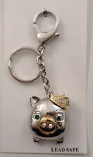 Rhinestone Bline Queenie Queen pig Piglet Key Chain PUrse Charm Fob
