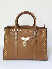 Michael Kors Nouveau Hamilton Luggage Leather Satchel Bag MSRP $398