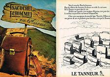 PUBLICITE ADVERTISING 104  1980  LE TANNEUR maroquinerie  LA SACOCHE hommes ( 2p