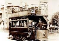 OLD PHOTO England Social History Circa 1910 A Northampton Corporation Tramways