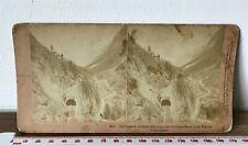 More details for great st gothard railway wasen switzerland antique b.w. kilburn1885 stereoview
