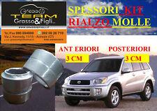 Spessori Molle Rialzo TOYOTA RAV 4 A2 2000 > 2006 ANTERIORE POSTERIORE 3 + 3 CM