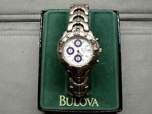 Bulova Marine Star Titanium Quartz Chronograph With Date JEWELERS NEW OLD STOCK