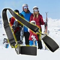 NE_ Snowboard Skiing Pole Fixing Strap Adjustable Shoulder Hand Carrier Lash Lig
