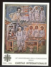 """VATICANO - BF - 1990 - 40° anniv. Fondazione della """"Caritas Intertionationalis"""""""