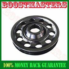 For 88-00 Civic B16 B18 Single Belt Aluminum Performance Black Crank Pulley