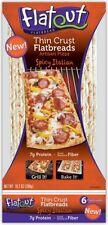 Flatout Artisan Thin Pizza Crust, Spicy Italian-6 Crusts, Low Fat, Low Calories