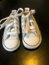 Converse Crib Shoes White Leather 81229 Lace up Size 1 (007)