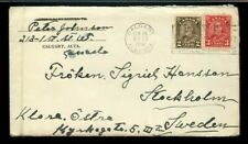 5 cent UPU surface rate 1st oz to SWEDEN w/contents 1931 Arch issue cover Canada