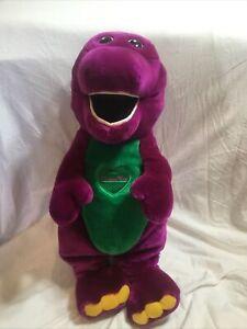 "Barney 24"" Large Plush Stuffed Animal Lyons Group Sings "" I Love You"""