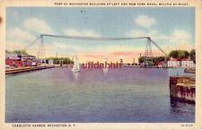 CHARLOTTE HARBOR, ROCHESTER, NY 1937 Port Bldg at left and N.Y. Naval Militia