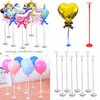 5Pcs Balloon Column Stick Stand with Base Wedding Birthday Party Baby Shower