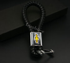 Black High Quality Key chains Car Logo Leather Key Ring Accessorie For Chevrolet