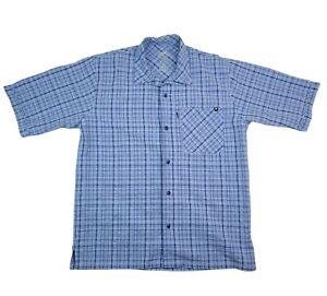 Blackhawk! Warriorwear Tactical 1700 Shirt Men's M Short Sleeve Button Up Blue